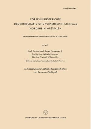 Verbesserung der Zahigkeitseigenschaften von Bessemer-Stahlgu af Eugen Piwowarsky