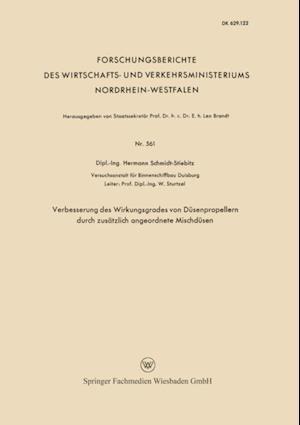 Verbesserung des Wirkungsgrades von Dusenpropellern durch zusatzlich angeordnete Mischdusen af Hermann Schmidt-Stiebitz