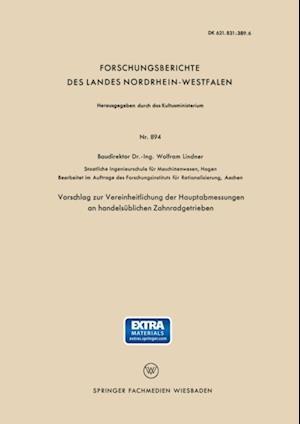 Vorschlag zur Vereinheitlichung der Hauptabmessungen an handelsublichen Zahnradgetrieben
