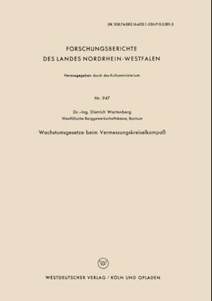 Wachstumsgesetze beim Vermessungskreiselkompa af Dietrich Wartenberg