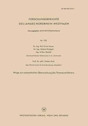 Wege zur automatischen Uberwachung des Thomasverfahrens af Karl Ernst Mayer, Helmut Knuppel, Arthur Stumpf