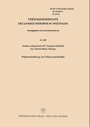 Weiterentwicklung von Friktionswerkstoffen af Ludwig Martin