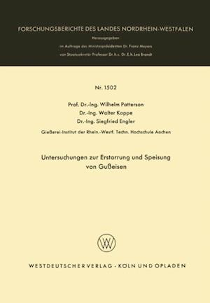 Untersuchungen zur Erstarrung und Speisung von Gueisen af Wilhelm Patterson