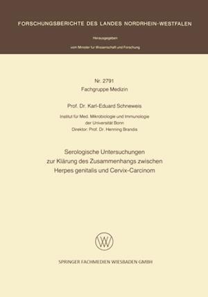 Serologische Untersuchungen zur Klarung des Zusammenhangs zwischen Herpes genitalis und Cervix-Carcinom