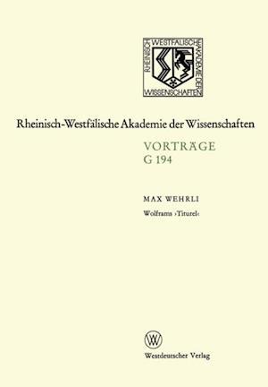 Wolframs Titurel' af Max Wehrli