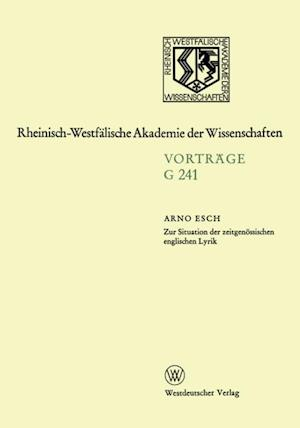 Zur Situation der zeitgenossischen englischen Lyrik af Arno Esch