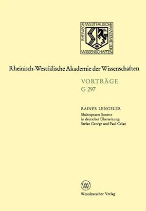 Shakespeares Sonette in deutscher Ubersetzung: Stefan George und Paul Celan af Rainer Lengeler