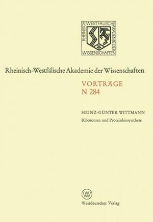 Ribosomen und Proteinbiosynthese af Heinz-Gunter Wittmann