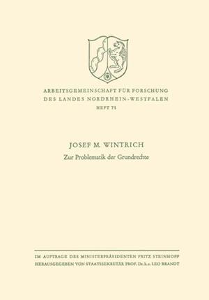Zur Problematik der Grundrechte af Josef M. Wintrich