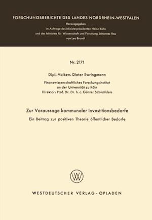 Zur Voraussage kommunaler Investitionsbedarfe af Dieter Ewringmann