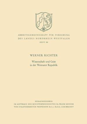 Wissenschaft und Geist in der Weimarer Republik af Werner Richter