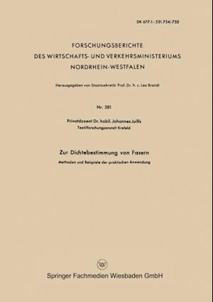 Zur Dichtebestimmung von Fasern af Johannes Juilfs