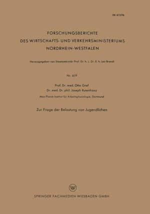 Zur Frage der Belastung von Jugendlichen af Otto Graf