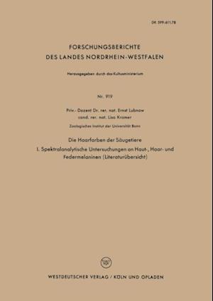 Die Haarfarben der Saugetiere af Ernst Lubnow
