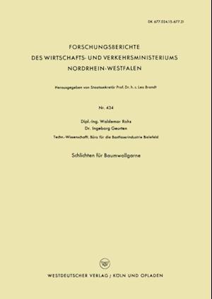Schlichten fur Baumwollgarne af Waldemar Rohs