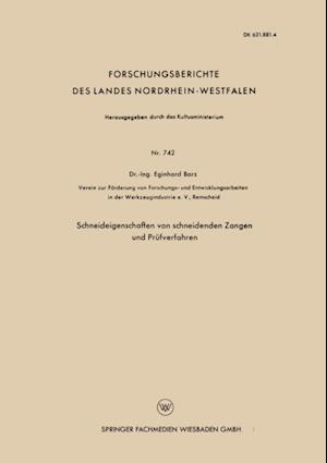 Schneideigenschaften von schneidenden Zangen und Prufverfahren af Eginhard Barz