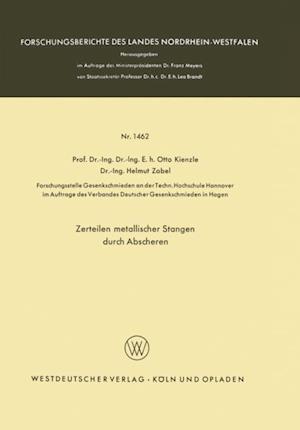 Zerteilen metallischer Stangen durch Abscheren af Otto Kienzle