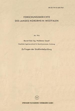 Zu Fragen der Strahlmittelprufung af Waldemar Gesell