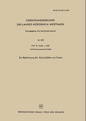 Zur Bestimmung der Absolutdichte von Fasern af Johannes Juilfs