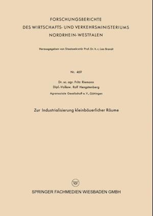 Zur Industrialisierung kleinbauerlicher Raume af Fritz Riemann