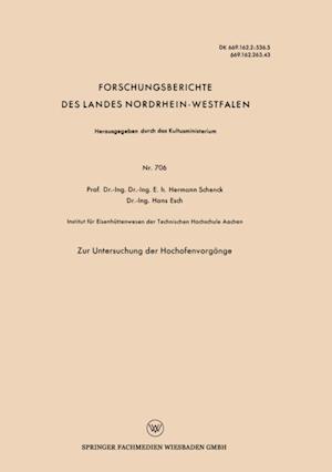 Zur Untersuchung der Hochofenvorgange af Hermann Schenck