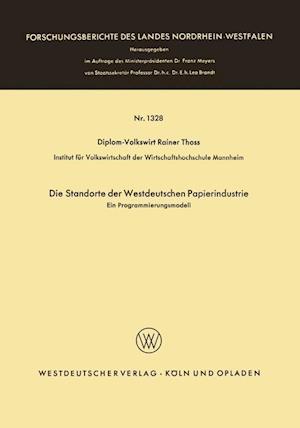 Die Standorte Der Westdeutschen Papierindustrie