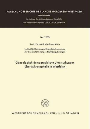 Genealogisch-Demographische Untersuchungen Über Mikrocephalie in Westfalen