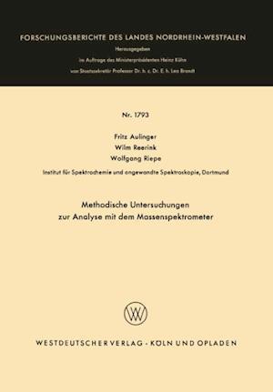 Methodische Untersuchungen Zur Analyse Mit Dem Massenspektrometer