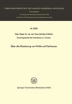 Uber die Klassierung von Wolle und Tierhaaren af Hans Gunther Frohlich