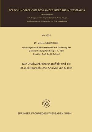 Der Druckverbreiterungseffekt und die IR-spektrographische Analyse von Gasen af Gisela Eckert-Reese