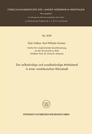 Der selbstandige und unselbstandige Mittelstand in einer westdeutschen Kleinstadt