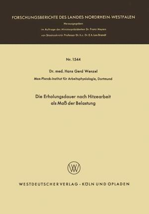 Die Erholungsdauer nach Hitzearbeit als Ma der Belastung af Hans Gerd Wenzel
