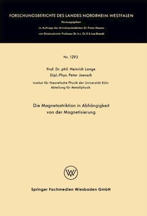 Die Magnetostriktion in Abhangigkeit von der Magnetisierung af Heinrich Lange