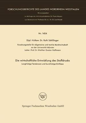 Die wirtschaftliche Entwicklung des Stoffdrucks af Ruth Schillinger