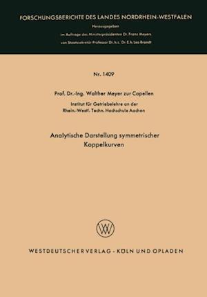 Analytische Darstellung symmetrischer Koppelkurven af Walther Meyer Zur Capellen