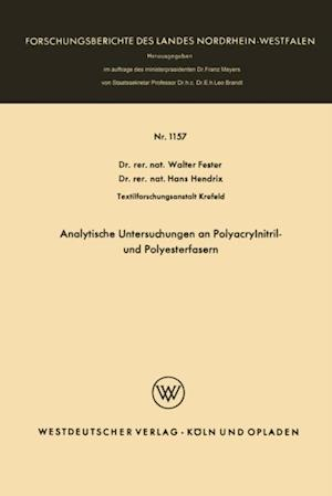 Analytische Untersuchungen an Polyacrylnitril- und Polyesterfasern af Walter Fester