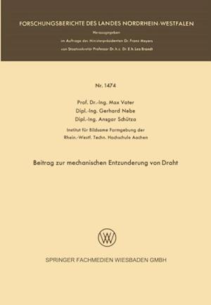 Beitrag zur mechanischen Entzunderung von Draht af Max Vater