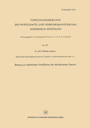 Beitrag zur statistischen Verifikation der Minderheiten-Theorie