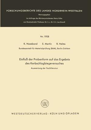 Einflu der Probenform auf das Ergebnis des Kerbschlagbiegeversuches af Klaus Naseband