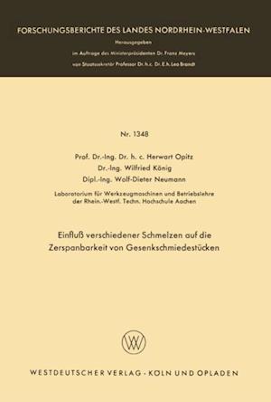 Einflu verschiedener Schmelzen auf die Zerspanbarkeit von Gesenkschmiedestucken af Herwart Opitz