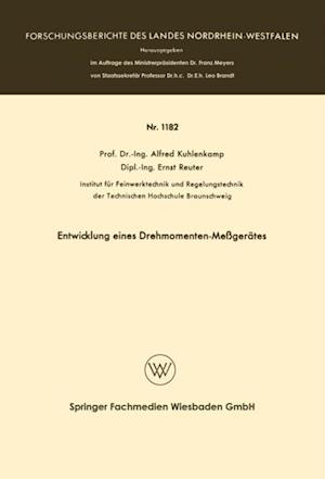 Entwicklung eines Drehmomenten-Megerates af Alfred Kuhlenkamp