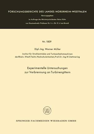Experimentelle Untersuchungen zur Verbrennung an Turbinengittern af Werner Muller
