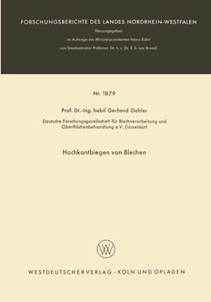 Hochkantbiegen von Blechen af Gerhard Oehler