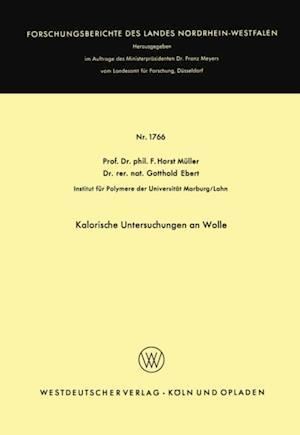Kalorische Untersuchungen an Wolle af Friedrich Horst Muller