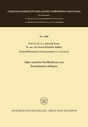 Uber unsterile Grokulturen von Scenedesmus obliquus af Heinrich Kraut