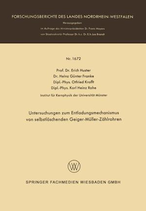 Untersuchungen zum Entladungsmechanismus von selbstloschenden Geiger-Muller-Zahlrohren