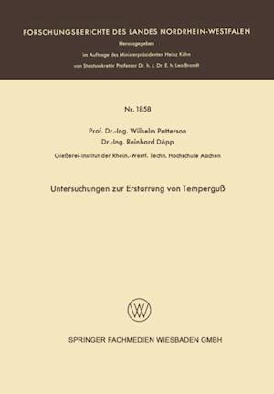 Untersuchungen zur Erstarrung von Tempergu af Wilhelm Patterson