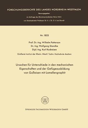 Ursachen fur Unterschiede in den mechanischen Eigenschaften und der Gefugeausbildung von Gueisen mit Lamellengraphit af Wilhelm Patterson