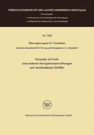 Versuche mit Funk- und anderen Navigationseinrichtungen auf verschiedenen Schiffen af Hans Christian Freiesleben