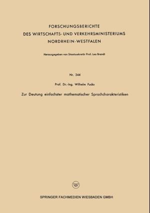 Zur Deutung einfachster mathematischer Sprachcharakteristiken af Wilhelm Fucks
